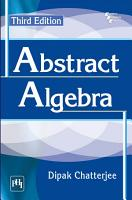 ABSTRACT ALGEBRA  THIRD EDITION PDF