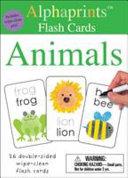 Alphaprints  Wipe Clean Flash Cards Animals PDF