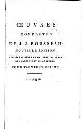 Œuvres completes de J.J. Rousseau: Lettres