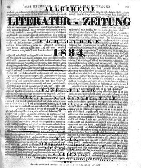 ALLGEMEINE LITERATUR ZEITUNG VOM JAHRE 1834 PDF