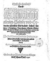 Christliche Haußtafel, Das ist: Beschreibung allerley Stände und Orden der Christen ...: In Zwölff unterschiedliche Predigten gestellet ...