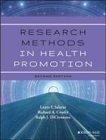 Research Methods in Health Promotion PDF