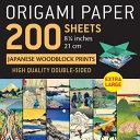 Origami Paper 200 Sheets Japanese Woodblock Prints