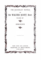 The Waverley Novels: Volume 14