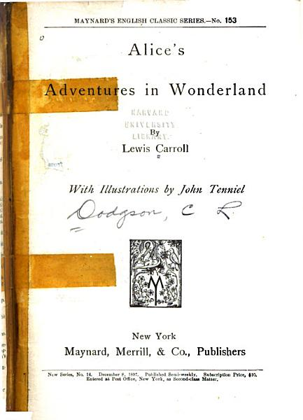 Download Alice s Adventures in Wonderland Book