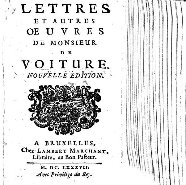 Download Lettres et autres   uvres de Monsieur de Voiture  Nouvelle edition   Edited by E  Martin de Pinchesne   Book
