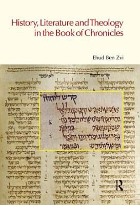 History  Literature and Theology in the Book of Chronicles