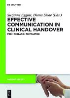 Effective Communication in Clinical Handover PDF