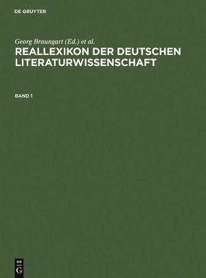 Reallexikon der deutschen Literaturwissenschaft PDF