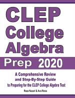 CLEP College Algebra Prep 2020