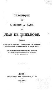 Chronique de S. Bavon à Gand