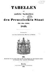 Tabellen und amtliche nachrichten über den Preussischen staat für das jahr 1849: Band 3