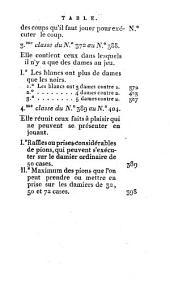 Les quatre jeux de dames Polonais, Égyptien, Échecs et a trois personnes: avec les damiers et pions nécessaires ..., suivis d'une méthode générale pour varier les jeux de Dames à l'infiniti. Collection de quatre cents coups de dames a la polonaise, Volume2
