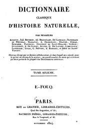 Dictionnaire classique d'histoire naturelle: Volume6