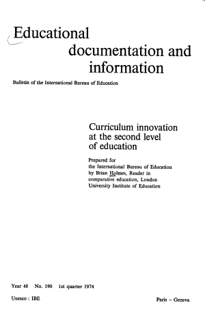 Curriculum Innovation at the Second Level of Education PDF