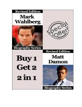 Celebrity Biographies - The Amazing Life Of Mark Wahlberg and Matt Damon - Famous Stars