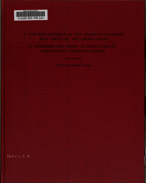 I  The Replacement of the Aromatic Sulfonic Acid Group by the Amino Group