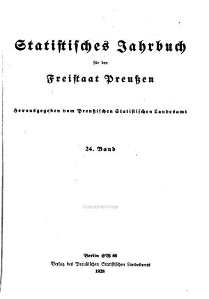 Statistisches Jahrbuch f  r den Preussischen Staat PDF