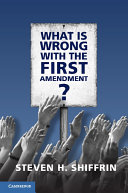 What is Wrong with the First Amendment?