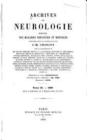 Archives internationale de neurologie, des maladies héréditaires, de médicine mentale et psychosomatique: Volume9