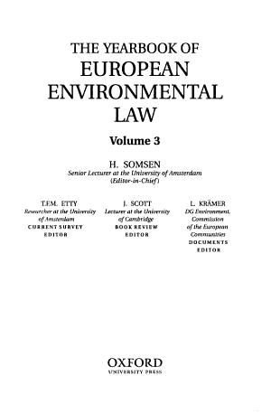 Yearbook of European Environmental Law