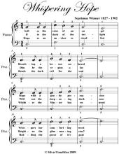 Whispering Hope - Easy Piano Sheet Music