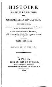 Histoire critique et militaire des guerres de la Révolution: Campagnes de 1797 et de 1798