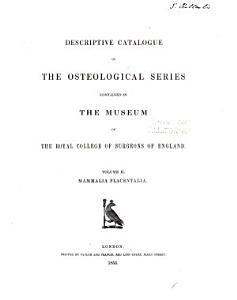 Descriptive Catalogue of the Osteological Series Contained in the Museum PDF