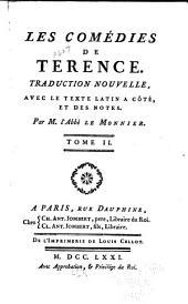 Les comédies de Terence: Volume2