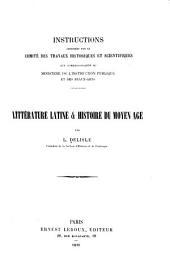 Instructions adressées par le Comité des travaux historiques et scientifiques: aux correspondants du Ministère de l'instruction publique et des beaux-arts