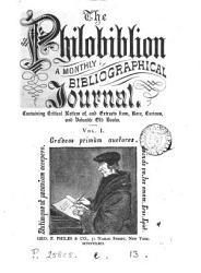 The Philobiblion  ed  by G P  Philes   PDF