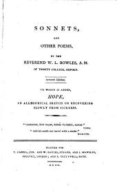 Sonnets, and Other Poems,