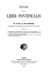 Etude sur le Liber pontificalis