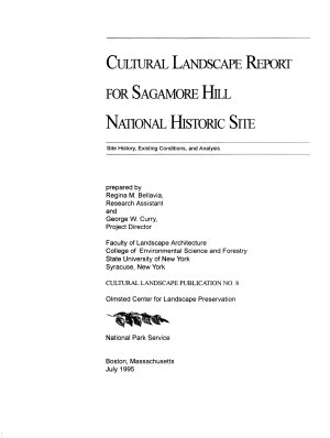 Cultural Landscape Report for Sagamore Hill National Historic Site  Treatment PDF