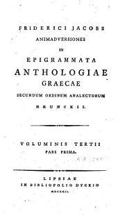 Anthologia graeca, sive poetarum graecorum lusus: Volume 13