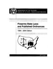 State Laws and Ordinances on Firearms