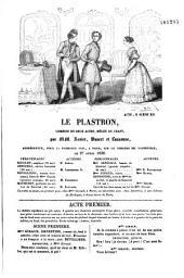 Le plastron: comédie en deux actes, mêlée de chant