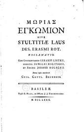 Morias encomion sive stultitiae laus