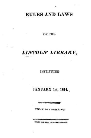 A Catalogue of the books belonging to the Lincoln Library  Together with the rules and a list of the proprietors   Supplement Fifth Supplement   PDF