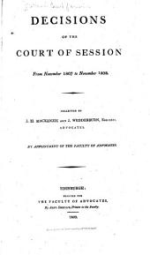 Decisions of the Court of Session: 1807-1808. 1809