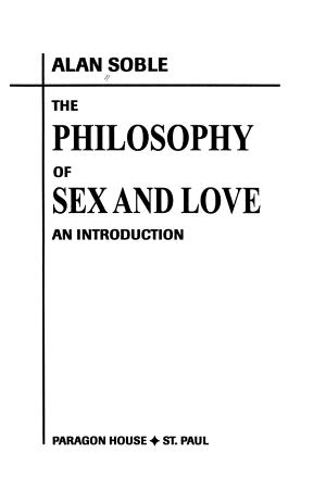 Philosophy Sex Love PDF