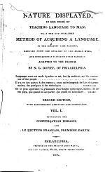 Containing the conversation phrases and Le lecteur français, première partie