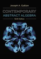Contemporary Abstract Algebra PDF