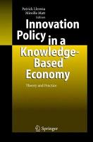 Innovation Policy in a Knowledge Based Economy PDF