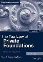 The Tax Law of Private Foundations    website PDF