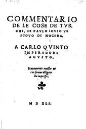 Commentario de le cose de Turchi. Nuovamente revisto: Volume 1