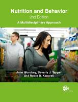 Nutrition and Behavior  2nd Edition PDF