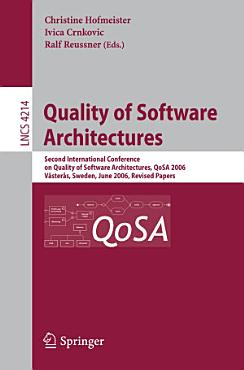Quality of Software Architectures PDF
