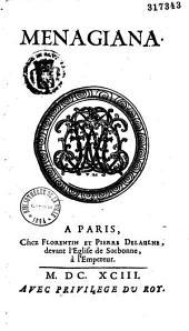 Menagiana sive excerpta ex ore Aegidii Menagii