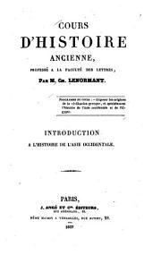 Cours d'histoire ancienne, professé à la faculté des lettres